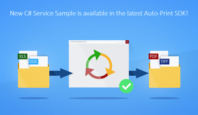 Auto-print C# Service Sample