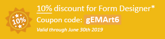 10% discount for Form Designer Coupon code: gEMArt6