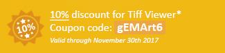 10% discount for TIFF Viewer: gEMArt6