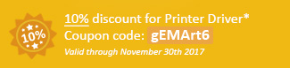10% discount for Printer Driver Coupon code: gEMArt6